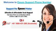 How to Get free epson tech support number +61-1800-431-295 Australia.