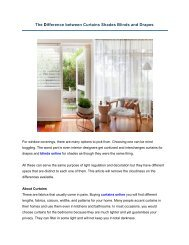 The Difference between Curtains Shades Blinds and Drapes