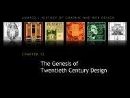 chapter 12: the genesis of twentieth century design - ANM102 ...