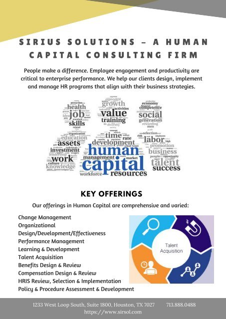 Sirius Solutions A Human Capital Consulting Firm