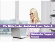 Fix Bitdefender Antivirus Error Code 5