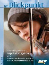 Blickpunkt Ausgabe 01/2011 - BEW Bergische Energie- und Wasser ...