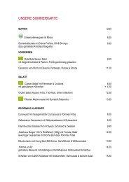 Speisekarte | Gasthaus Tattersall & Biergarten Rennbahn