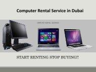 Computer Rental Services in Dubai