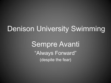 Denison University Swimming
