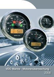 VDO Marine - Motorenüberwachung - - BUKH Bremen