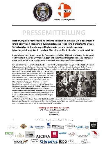 Pressemitteilung Barber Angels kommen wieder nach Bonn am 14. Mai 2018