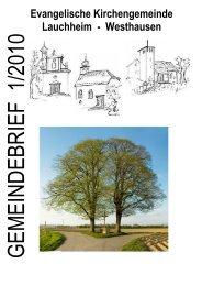 Konfirmation 2010 - Evangelische Kirchengemeinde Lauchheim ...