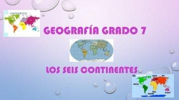 Geografía grado 7