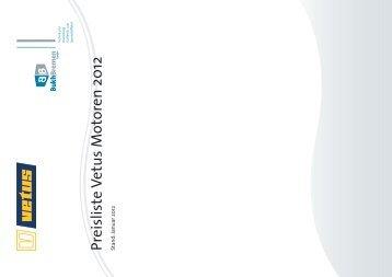 Preisliste Vetus Motoren 2012 Stand: Januar 2012 - BUKH Bremen