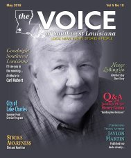 The Voice of Southwest Louisiana May 2018 Issue