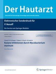 Kutane Infektionen durch Mycobacterium marinum Eine Übersicht