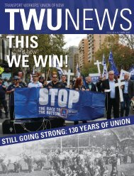 TWU News Autumn 2018