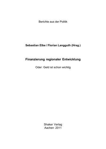 Finanzierung regionaler Entwicklung - sprint