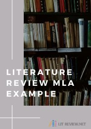Literature Review MLA Example