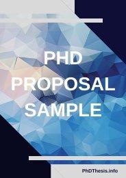 PhD Proposal Sample