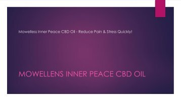 Mowelless Inner Peace CBD Oil - Reduce Pain & Stress Quickly!