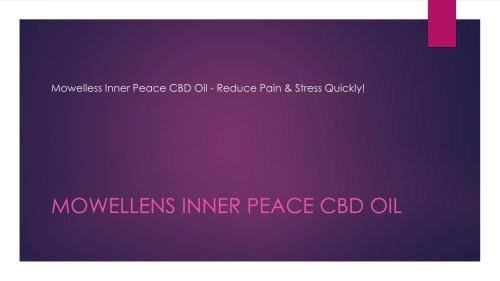 Mowelless Inner Peace CBD Oil - Reduce Pain & Stress Quickly!
