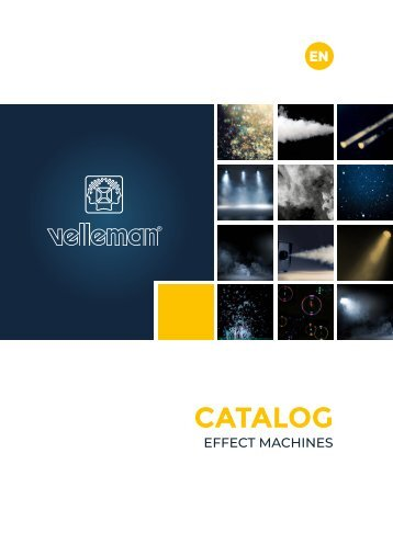 Velleman Sound & Light - Effect Machines - EN