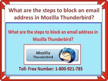 What are the steps to block an email address in Mozilla Thunderbird?
