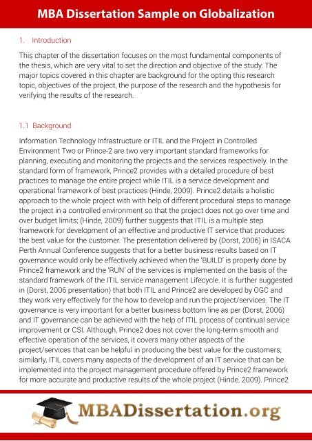 Dissertation mba researched argument essay