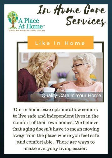 Personal Care and medication Care for Seniors | A Place at Home Omaha