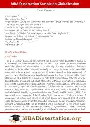 MBA Dissertation Sample on Organizational Behavior