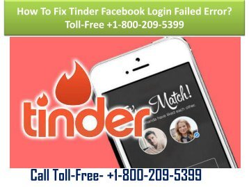 +1-800-209-5399 How To Fix Tinder Facebook Login Failed Error?