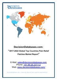 Global Pain Relief Patches Market Share, Growth and Forecast 2022