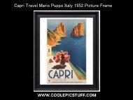 Capri Travel Mario Puppo Italy 1952 Picture Frame