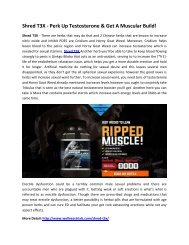 Shred T3X - Improve Your Testosterone Level!