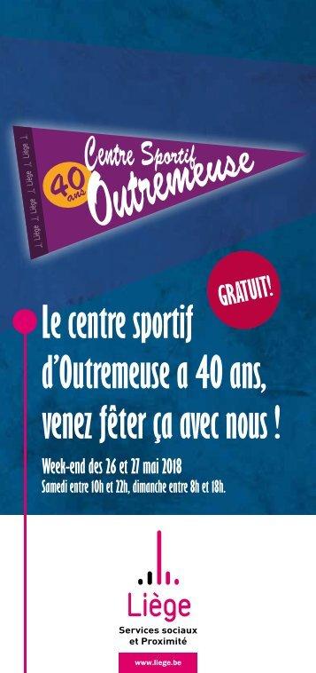 Programme des 40 ans du Centre sportif d'Outremeuse