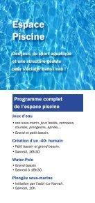 Programme des 40 ans du Centre sportif d'Outremeuse - Page 5