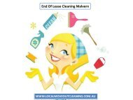 End Of Lease Cleaning Malvern