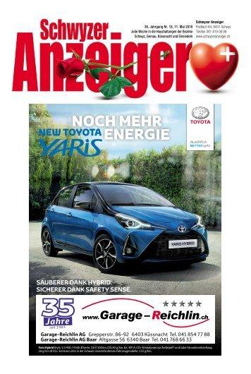 Schwyzer Anzeiger – Woche 19 – 11. Mai 2018