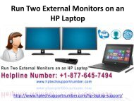 Run Two External Monitors on an HP Laptop