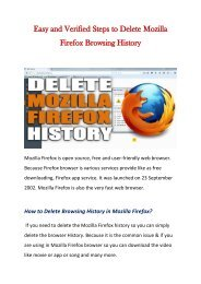 Verified Steps to Delete Mozilla Firefox Browsing History