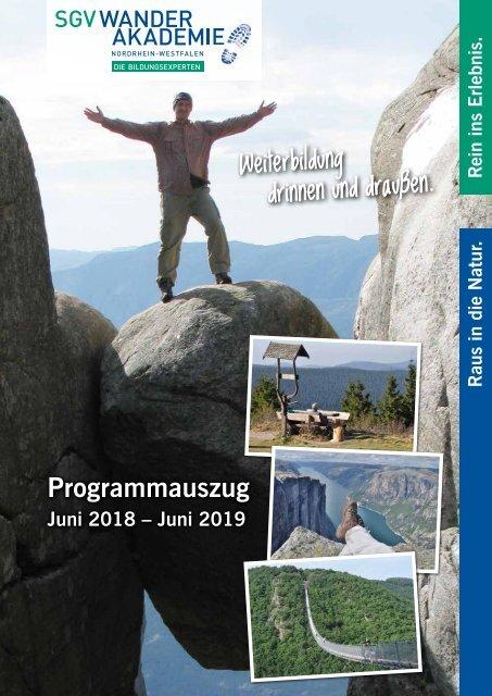 Veranstaltungskalender SGV Wanderakademie NRW 2018-2019