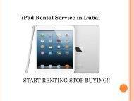 Budget-friendly iPad Rental Services in Dubai by UAE Technician