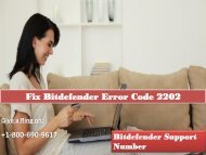 Fix Bitdefender Error Code 2202