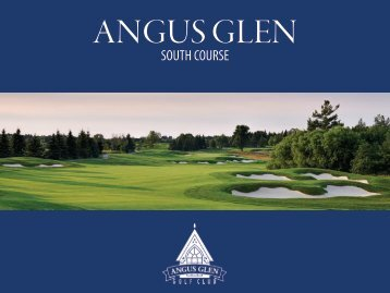 Angus Glen South Course Alterations 2015