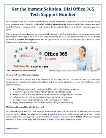 Get the Best Software Solution at Office 365 Technical Support