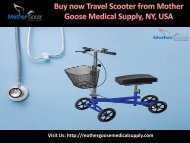 Best Travel Scooter from Mothers Goose Medical Supply, Syracuse, USA