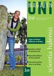 Uni-Magazin 3_2009.indd - Zentrale Universitätsverwaltung - Martin ...