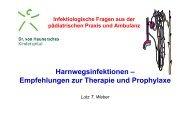 Harnwegsinfektionen – Empfehlungen zur Therapie und Prophylaxe