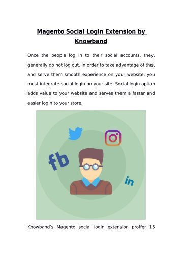 Magento Social Login Extension by Knowband