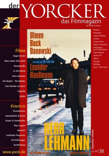 Filme - Yorck Kino GmbH