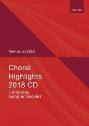 Oxford Choral Highlights: Christmas 2018