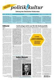 KULTUR IN DEUTSCHLAND - Deutscher Kulturrat