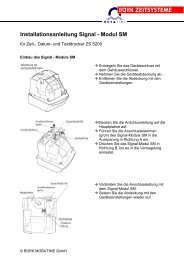 Installationsanleitung Signal - Modul SM - Bürk Mobatime GmbH